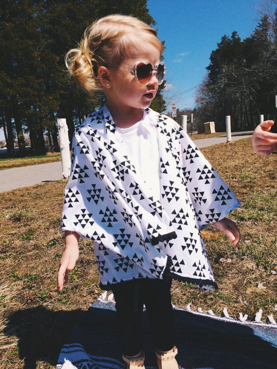 Black & White Arrow Kids Kimono by StellaAndStosh on Etsy