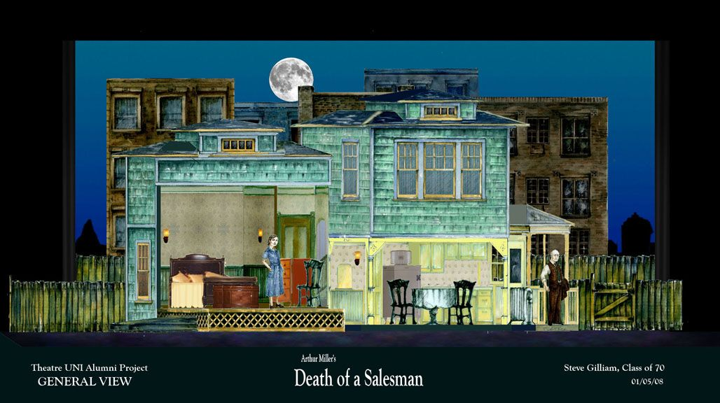 set design  death of a salesman