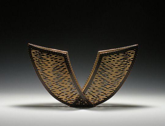 Jennifer Falck Linssen  'Receptive' - Hand Carved Paper, Coated Copper, & Aluminium.