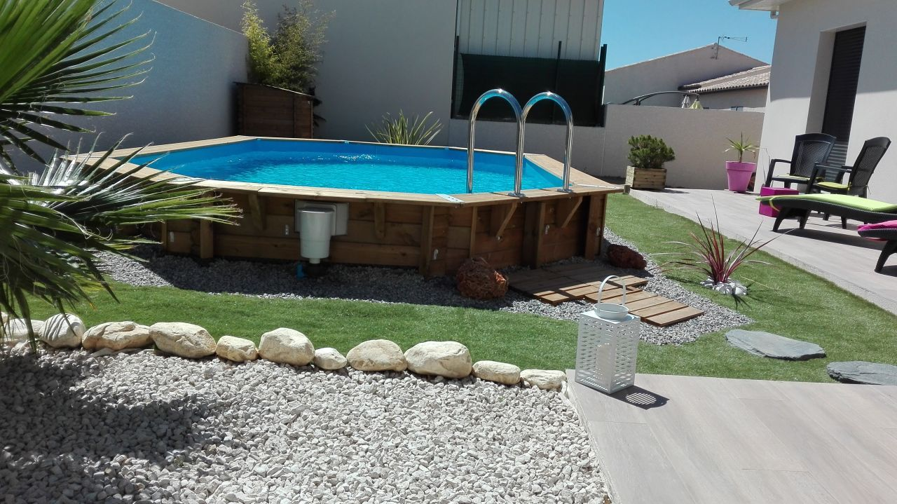 D co g n rale du jardin herault 34 am nagement du jardin avec piscine bois semi enterr e - Amenagement du jardin photo ...