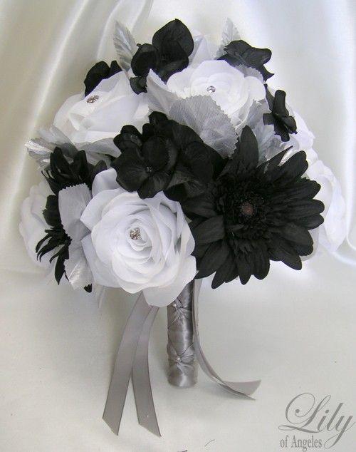 17 Pieces Package Silk Flower Wedding Decoration Bridal Bouquet