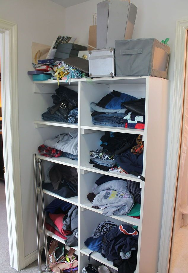 Turn a Messy Walk-in Into an Organized Closet and Dressing Room - schränke für schlafzimmer