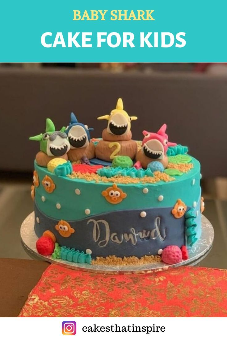 baby shark birthday cake asda