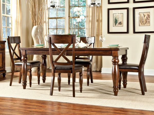Kingston Dining Sets. The Distinctive Cross Back Chair Design Of This  Classic Yet Contemporary All Wood Dining Room Collection Set The Kingston  Apart.