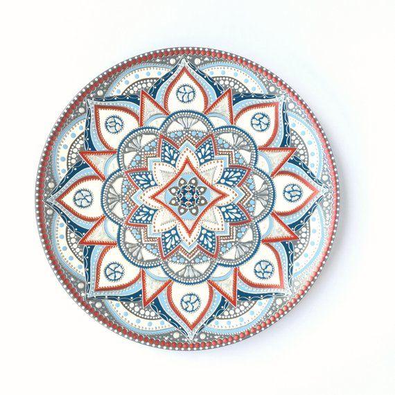Best Hanging Wall Plate Dot Art Mandala Painting Kitchen Wall 400 x 300