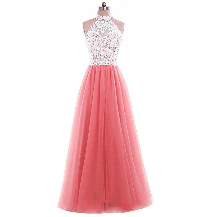 Damen A-Linie Zwei Teile langes Lace Tuell Abendkleid Ballkleid ...