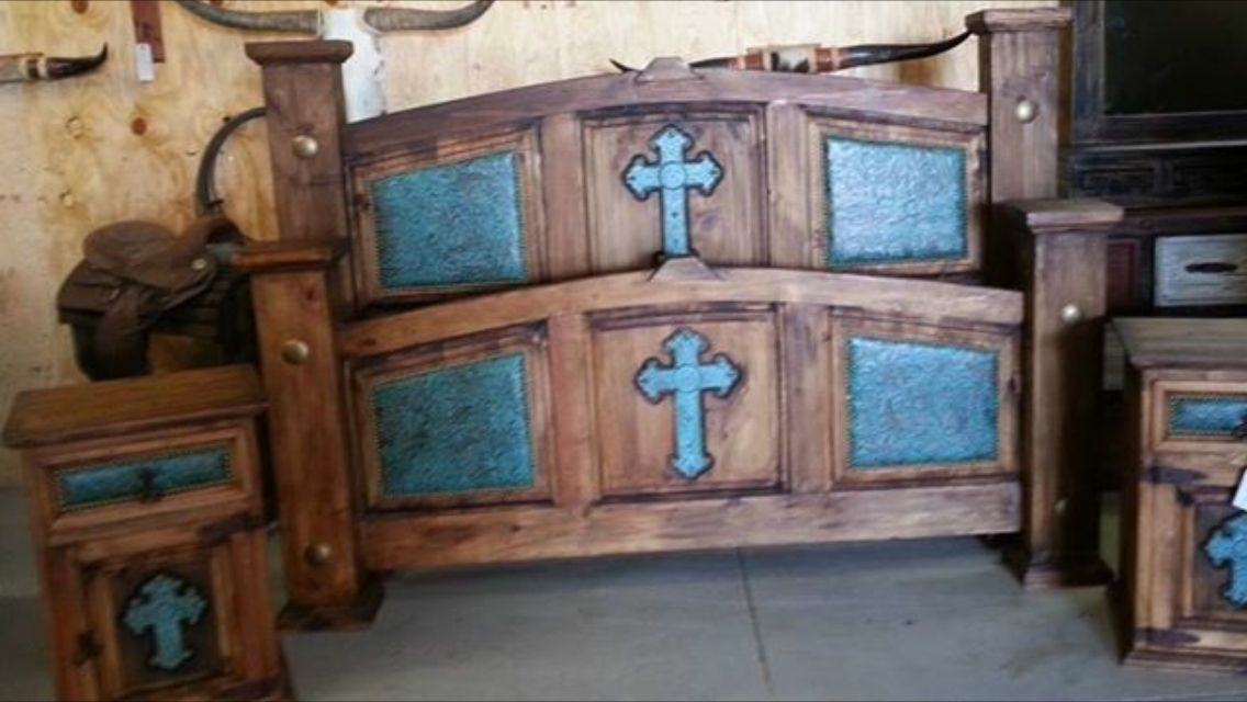 Cross Rustic Bed