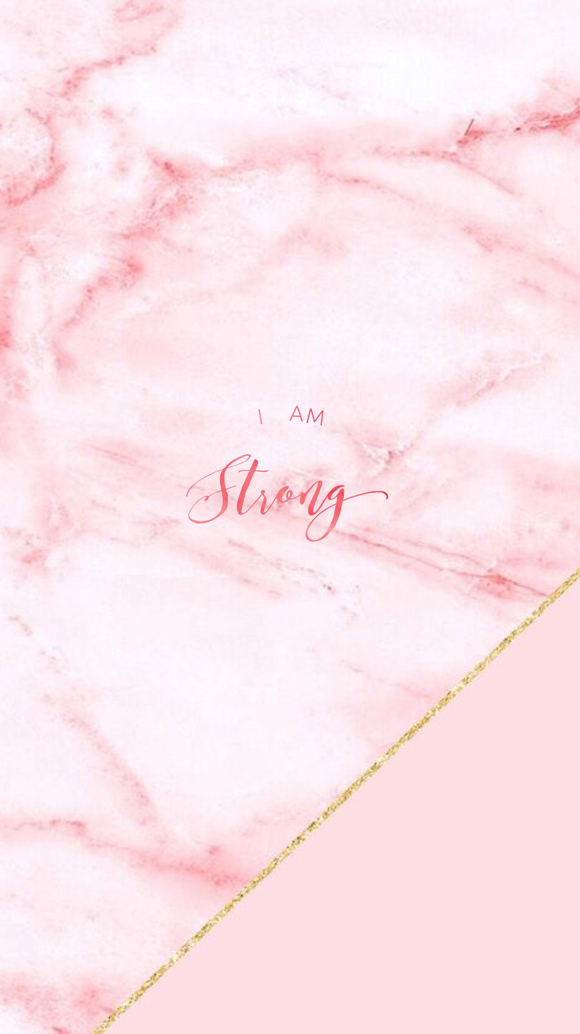 Pink Marble Pretty Positivity™ iPhone Mobile Wallpaper