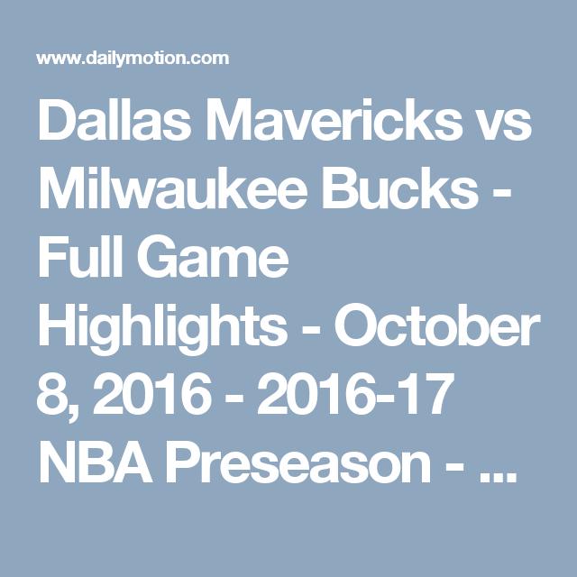 Dallas Mavericks vs Milwaukee Bucks - Full Game Highlights