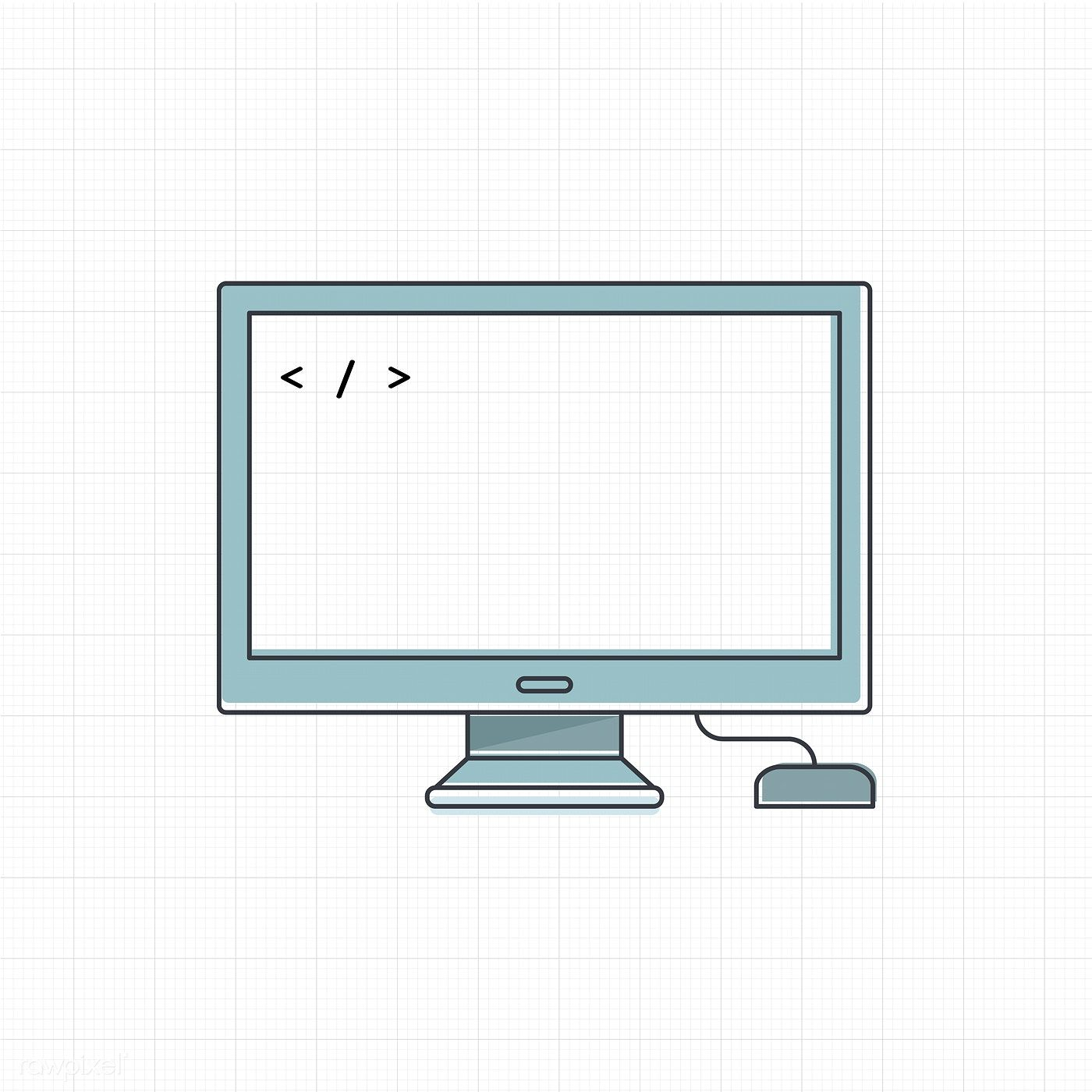 Vector of computer digital device free image by rawpixel