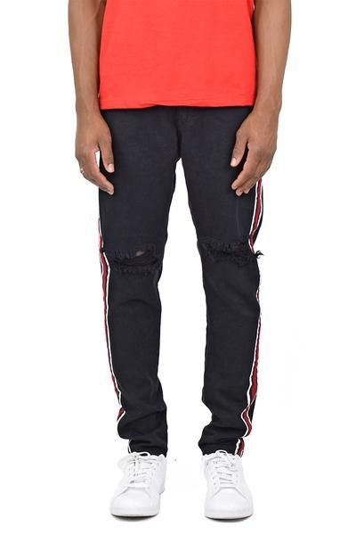 purchase cheap f9b05 d8128 Black Ripped Track Pant Jeans
