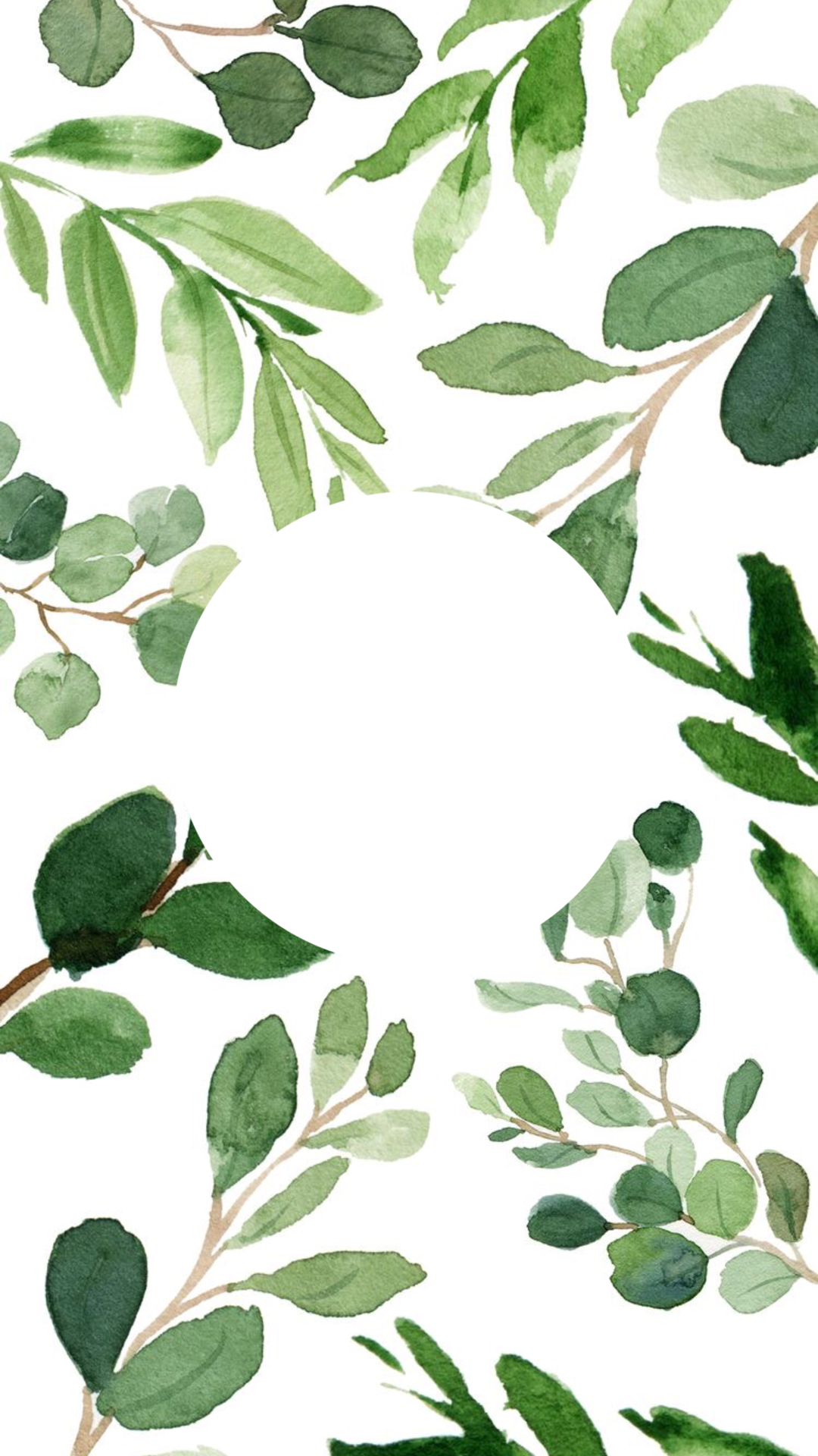 Greenery Highlight Cover Instagram Background