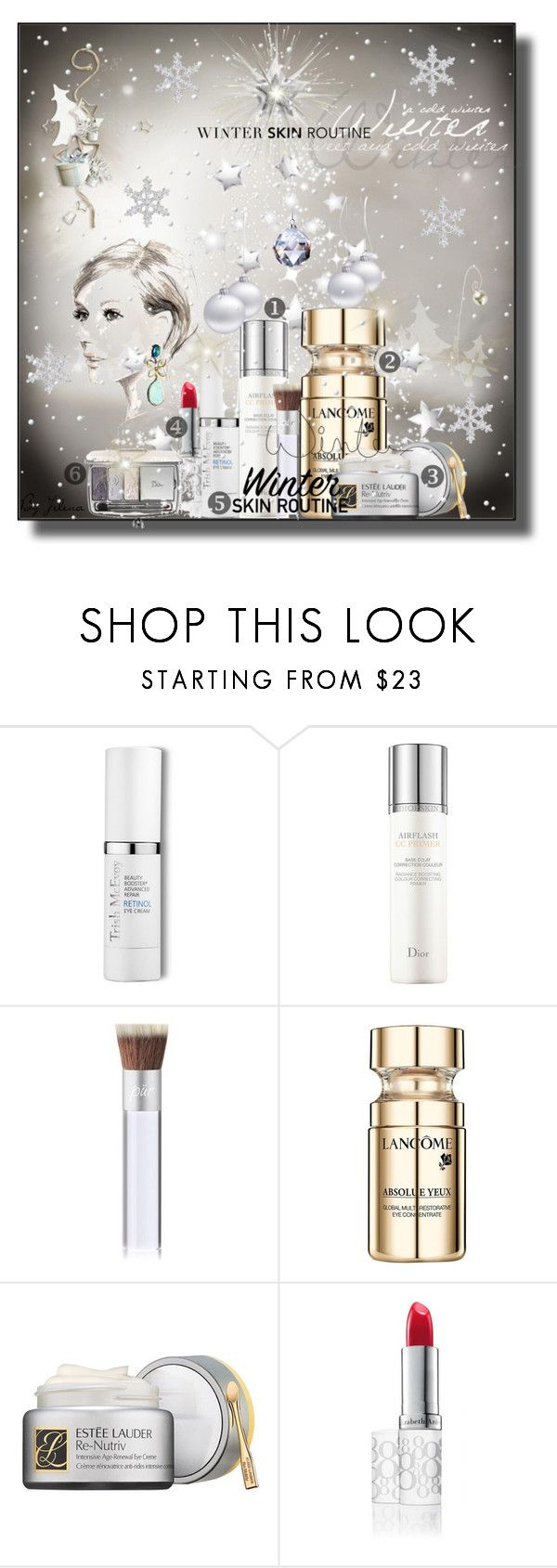 """Winter Skin Routine"" by jelenalazarevicpo ❤ liked on Polyvore featuring beauty, Trish McEvoy, Christian Dior, PurMinerals, Lancôme, Estée Lauder, Elizabeth Arden and Nordstrom"