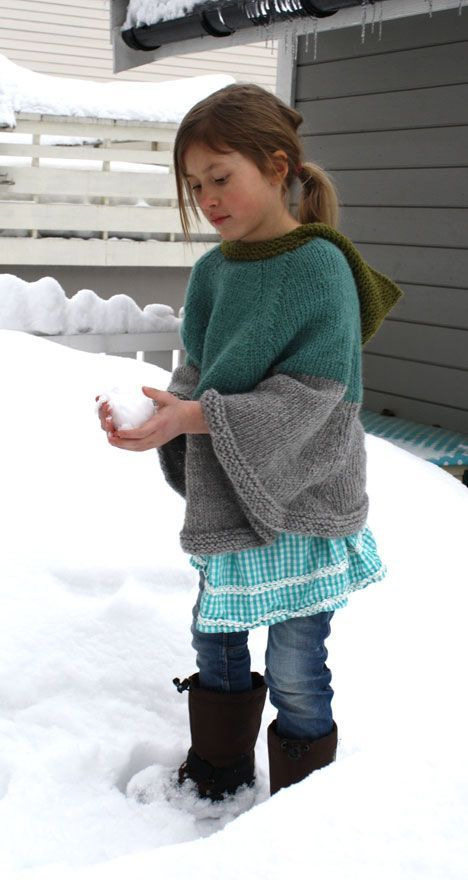 Free knitting pattern for Cool Cape for adults and ...