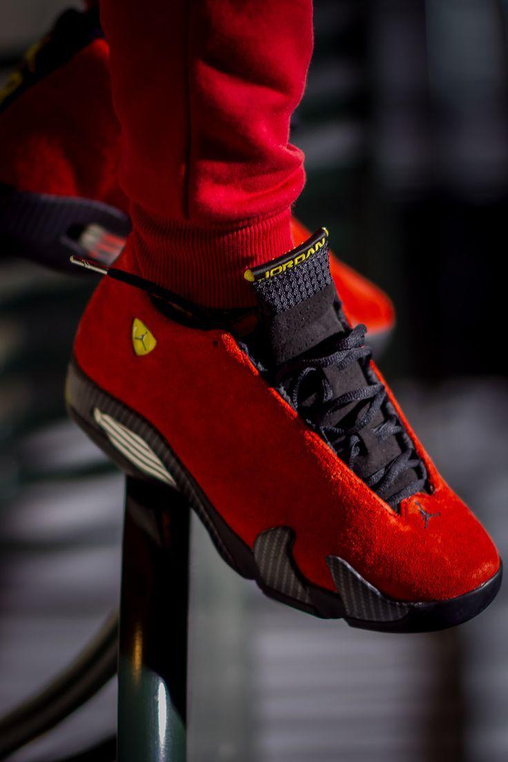 more photos 7262f 626a4 Impressive Nike Air Jordan 14 Ferrari   Vogue Blogger