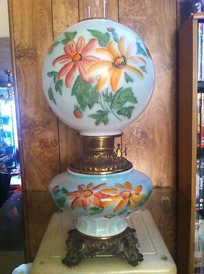 Gorgeous Antique Plume Atwood Gone with The Wind Oil Lamp | eBay