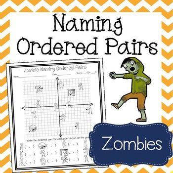 Zombie Naming Ordered Pairs Worksheet Rational Numbers Worksheets