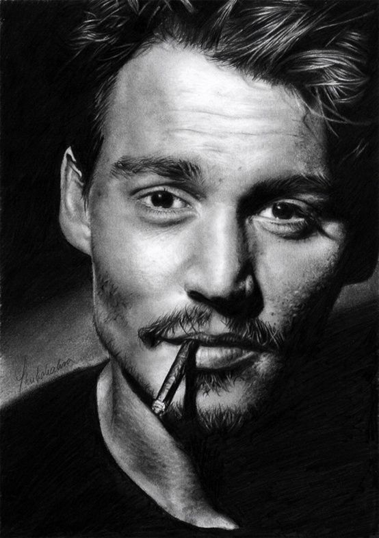 Black and White Photography of People | Johnny Depp | Very cool photo blog