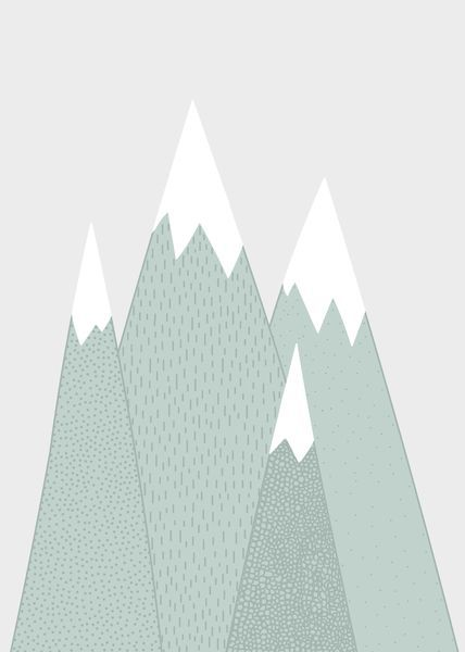 Lempeä vihreäsävyinen vuoristomaisema sopii rauhalliseksi lastenhuoneen somisteeksi ja vie ajatukset kauas vuorten laelle. Julisteen koko on 30×40cm ja se sopii standardikokoisiin kehyksiin. Juliste on painettu huolella valitulle mattapintaiselle hieman paksummalle (200g) julistepaperille.