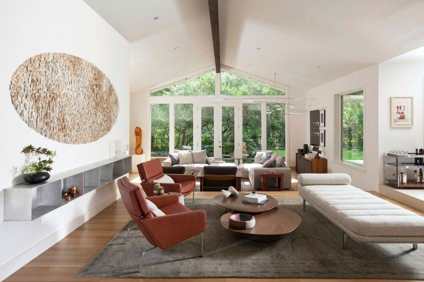 A Joint Project In Texas Completed By Joshua Rice Design Buchanan Architects Stylish Living Room Interior Design Furnishings Design