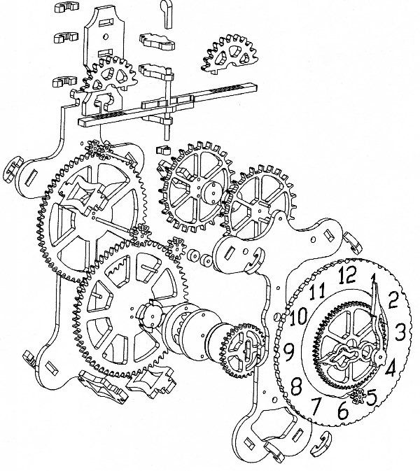 grandfather clock gears drawing - Google Search | Fire ...