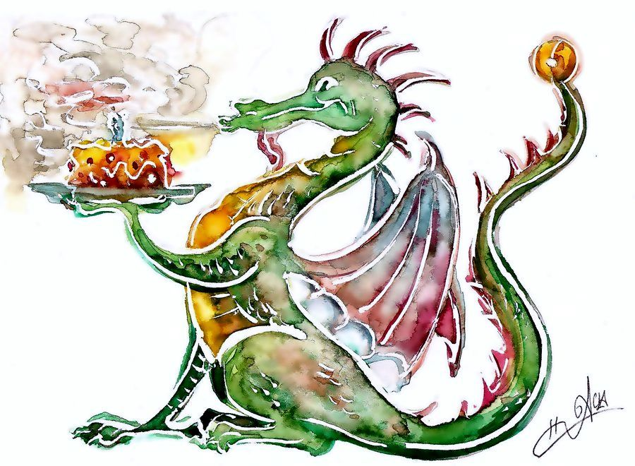 Именинами, с днем рождения картинка дракон