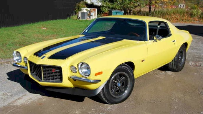 Image result for 1970 yellow camaro Z28
