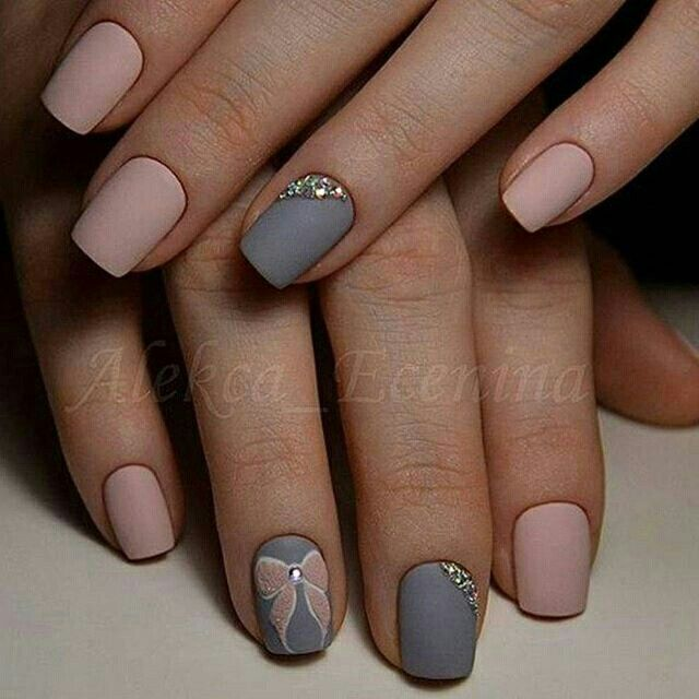 Simple yet gorgeous looking winter nail art design. The nail art design is  made up of light pink and blue gray nail polish that perfectly complement  each ... - Pin By V. On Fabulous ! Pinterest Pedi, Mani Pedi And Stronger Nails