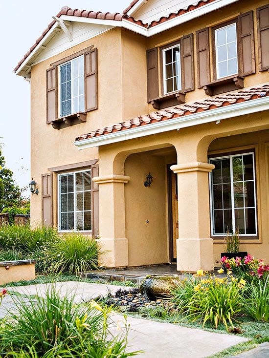 Mediterranean Style Home Ideas Exterior Paint Colors For