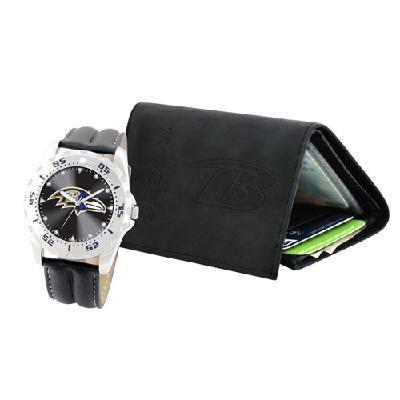 Baltimore Ravens Watch   Wallet Gift Set  752687812