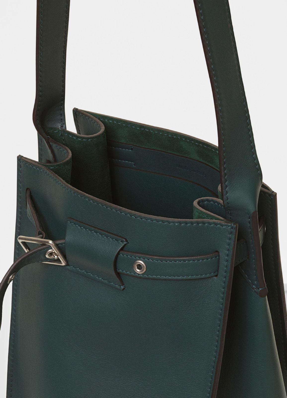 Big bag Bucket with long strap in smooth calfskin  176b6e270db13