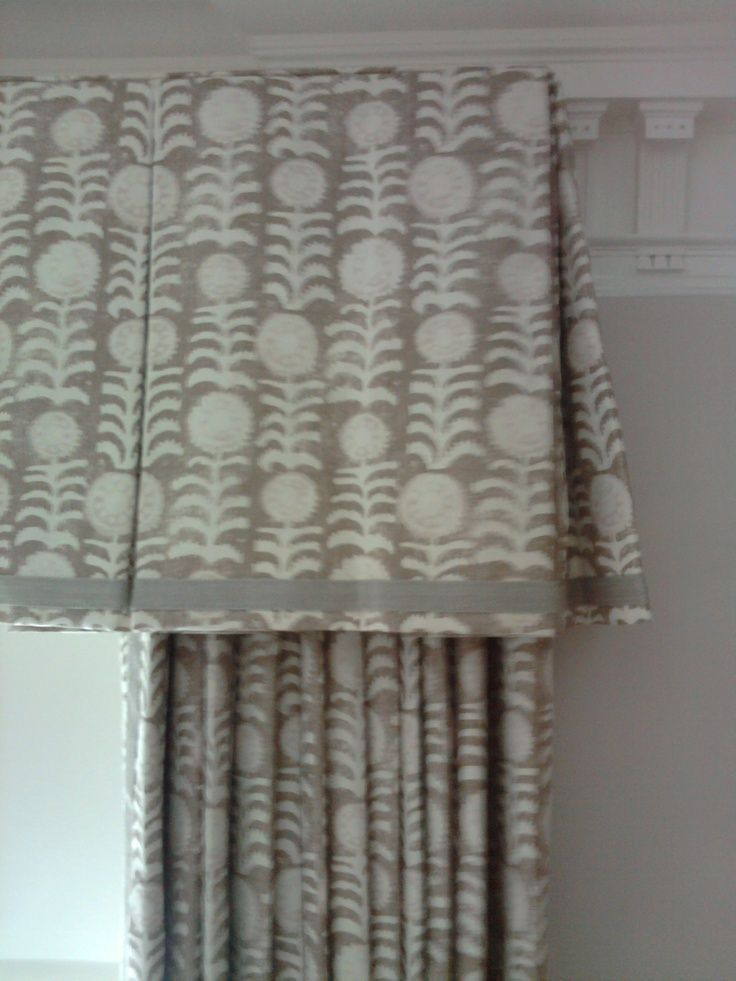 Valance With Narrow Banding Shows Corner Detail Interior Window