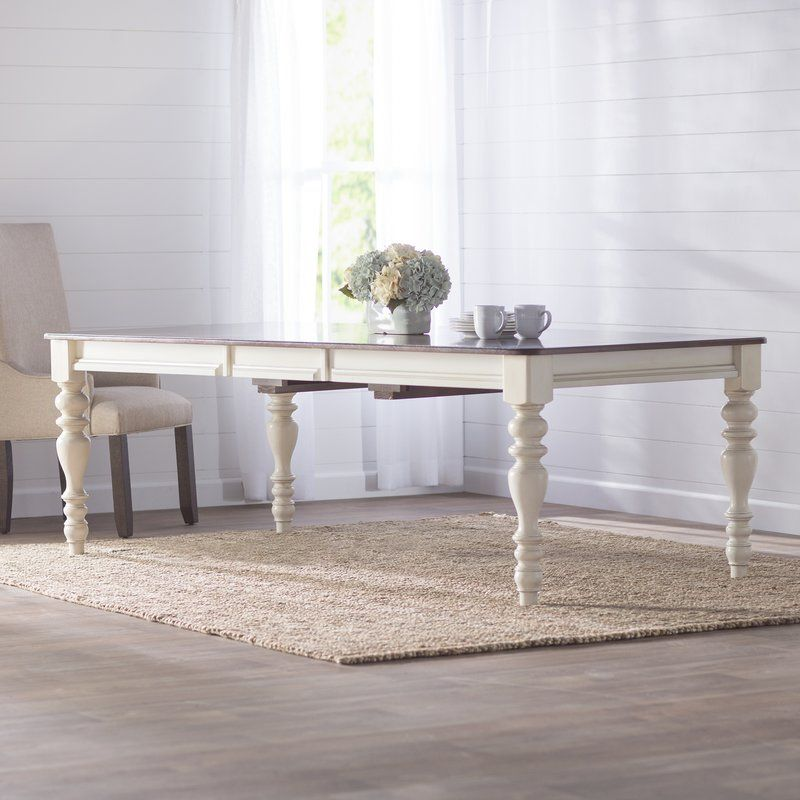 Alise extendable solid wood dining table solid wood