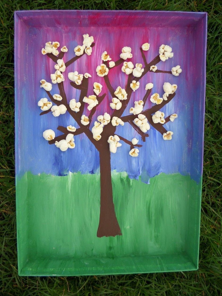 Voorjaar Knutselen Bloesemboom Knutselen Lente Groep 4 Kinderen Natuur Knutselen Knutselen Voorjaar