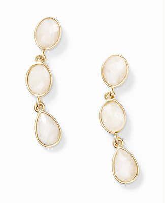 Blush Stone Drop Earrings, ann taylor