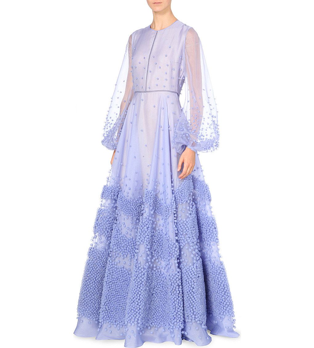 Roksanda textured silkorganza gown prewedding dinnerwedding