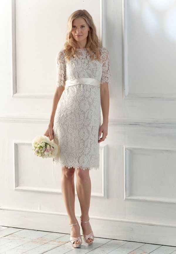 Short Sleeve Wedding Dressesmaybe A Nice Dress When Going To The Justice