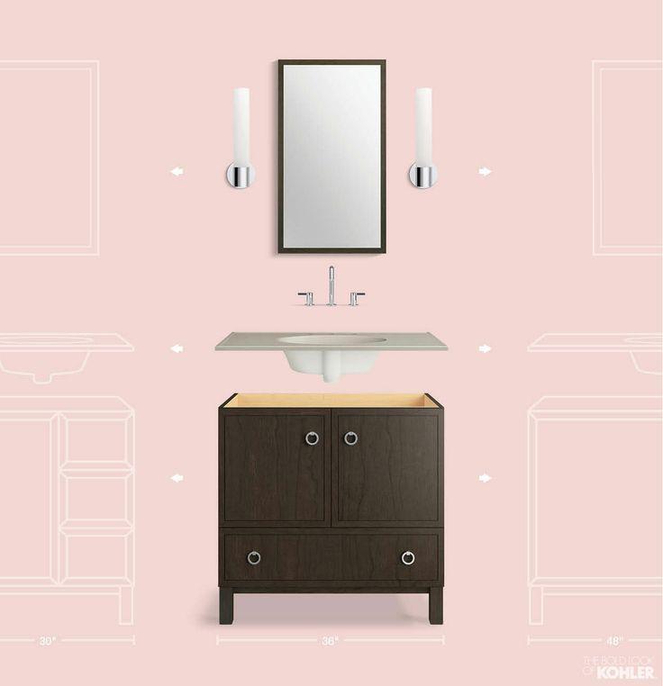 the bold look of petal pink bathroom bathroom kohler vanity rh pinterest com