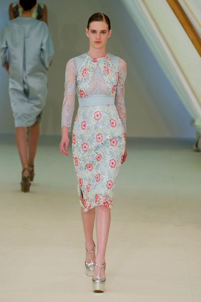 Erdem Spring 2013, I'm starting to see how texture and colour palettes are important to create beautiful designs.