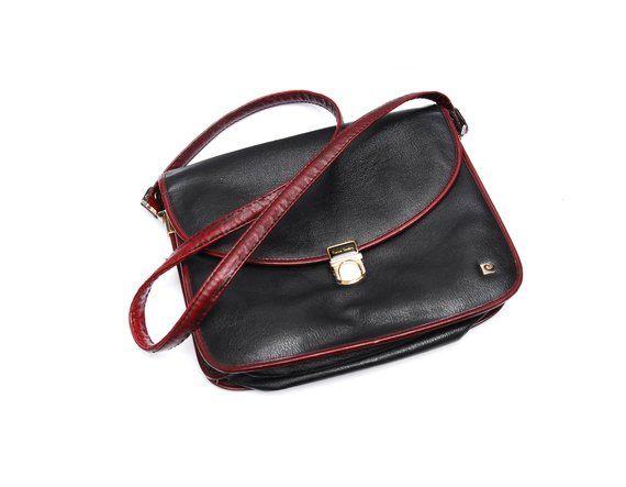 5f3142da5358 Vintage Pierre Cardin leather handbag