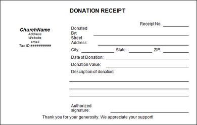 Donation Receipt Template  Using The Donation Receipt Template