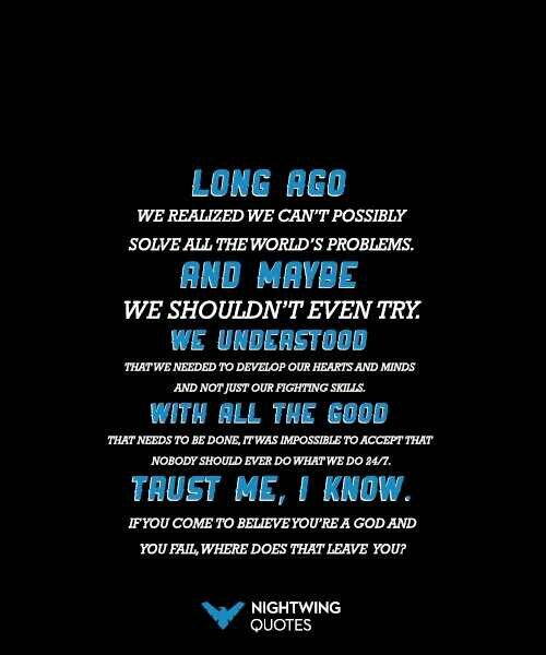 Nightwing quotes