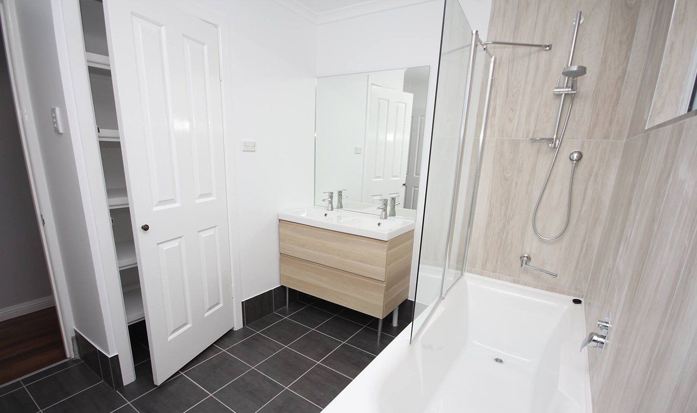 freestanding corner bath with shower rail and screen roll top bathroom our house new pinterest