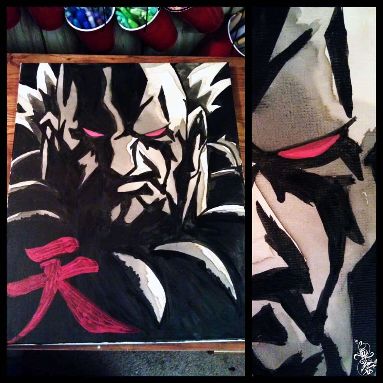 Akuma Coffee painting (2012) Caotime