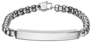 """Men's 9.5mm I.D. Bracelet in Stainless Steel - 8.5"""""""