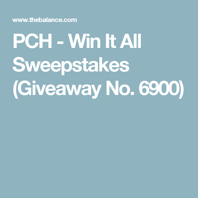 PCH's SuperPrize Sweepstakes Is Giving Away a Million Bucks and More