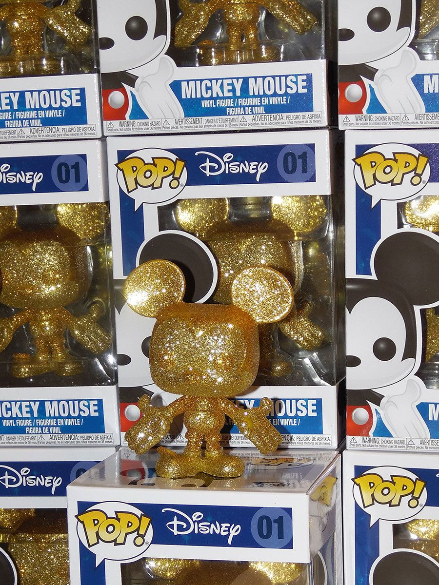 FunKo Free Shipping! Mickey Mouse Vinyl Mickey Mouse Diamond Glitter Pop
