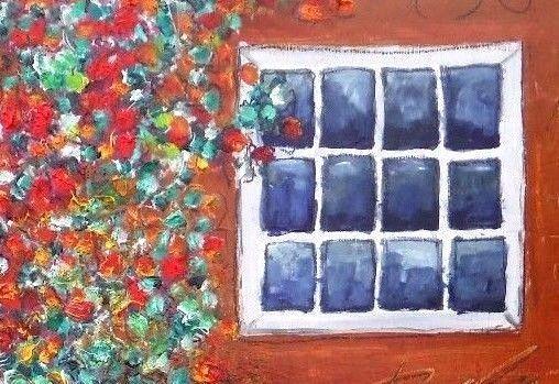 Barnside Impressionism US original listed AskArt Kevin F. Doyle Basquiat friend #Impressionism