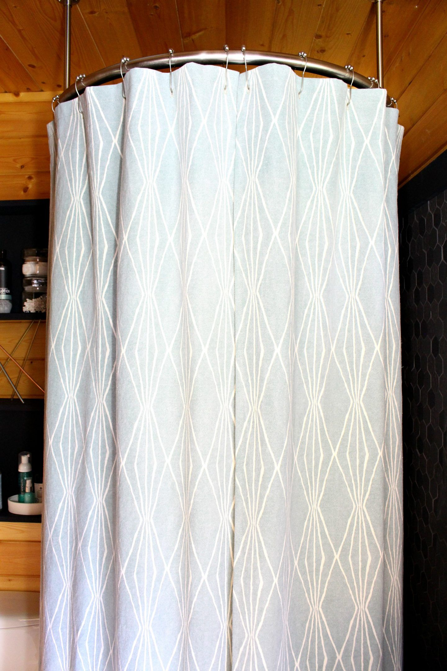 How To Sew A Shower Curtain With Lining Diy Bathroom Decor