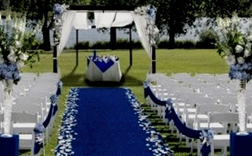 Blue Aisle Event Runner 100 Ft X 38 Puncture Resistant